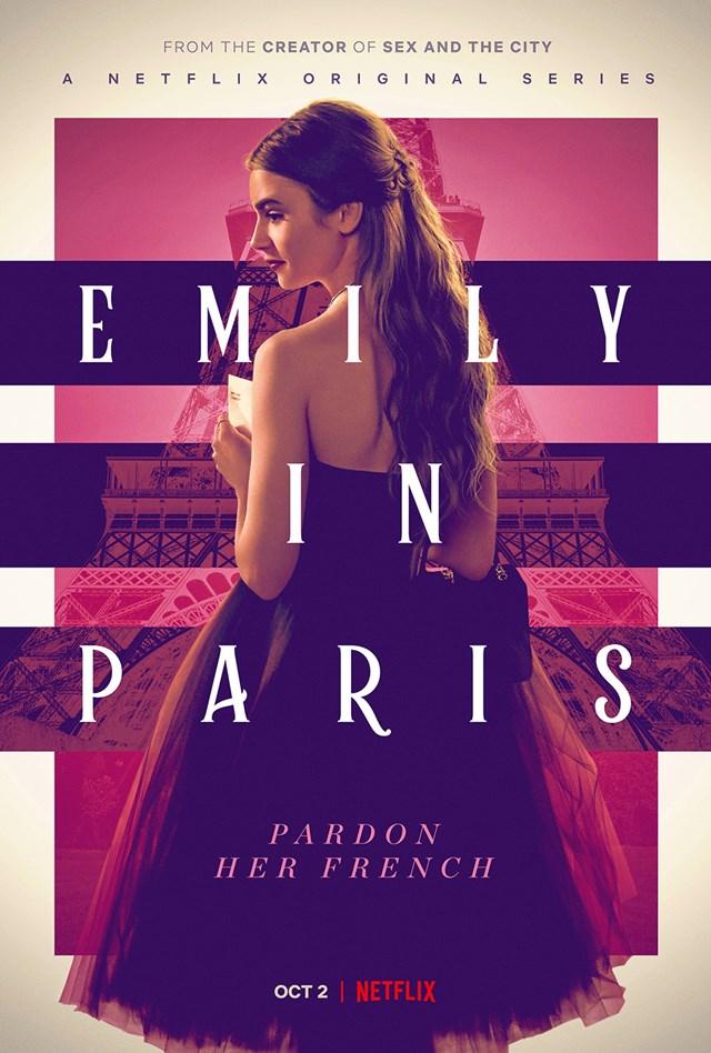 Đại dịch khiến quá trình sản xuất 'Emily in Paris' - một trong những bộ phim ăn khách nhất của Netflix bị chậm trễ. Ảnh: Netflix.