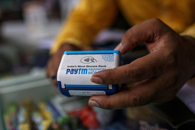 Paytm đặt mục tiêu huy động được 2,2 tỷ USD, nếu thành công, đây sẽ là đợt IPO lớn nhất lịch sử ngành chứng khoán Ấn Độ. Ảnh:Dhiraj Singh