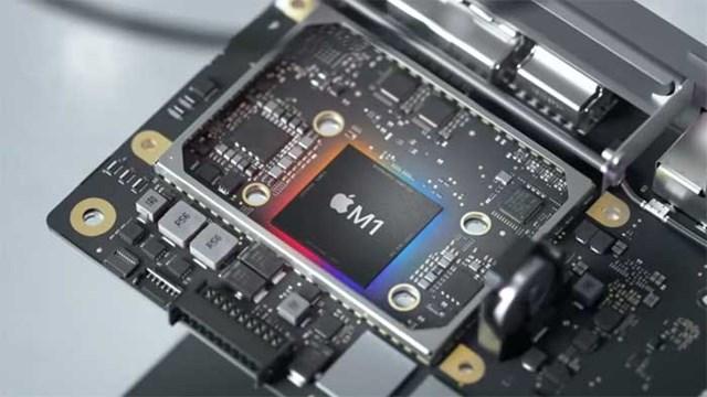 Chip M1 được Apple sử dụng trong các dòng máy tính, điện thoại mới. Ảnh: Apple.