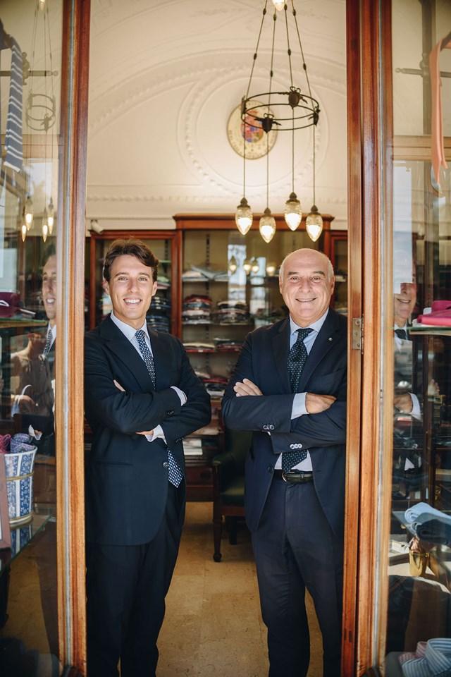 Alessandro Marinella và Maurizio Marinella. Ảnh: Simone Prezioso.