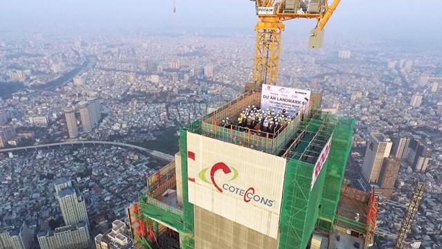 Landmark 81 - Công trình do Cotecons làm tổng thầu.