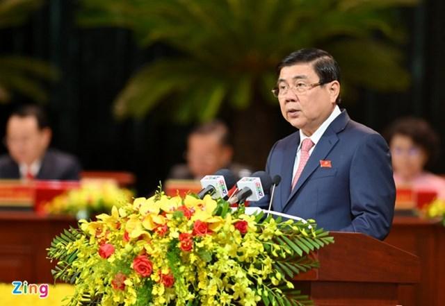 Chủ tịch UBND TP.HCM Nguyễn Thành Phong. Ảnh:Thuận Thắng.