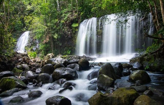 Khu cao nguyên Kon Hà Nừng (Gia Lai) có nhiều thác nước hùng vĩ.