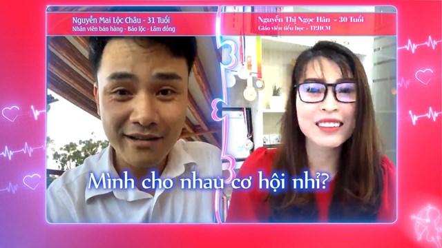 Được se duyên cùng Lộc Châu, Ngọc Hân quyết định đồng ý cho cả 2 một cơ hội. Ảnh: MCV.