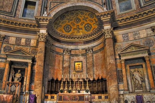 Những đường nét kiến trúc đáng kinh ngạc bên trongđền Pantheon