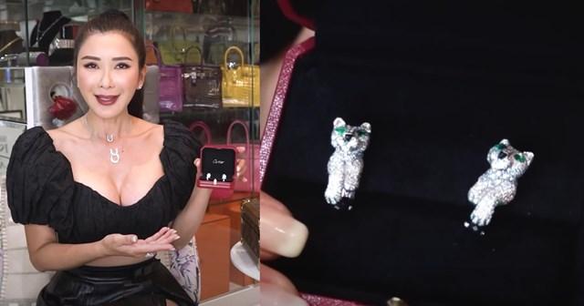 Jamie Chua trong vlog kể vềviệc đánh mất chiếc bông tai Cartier phiên bản giới hạn