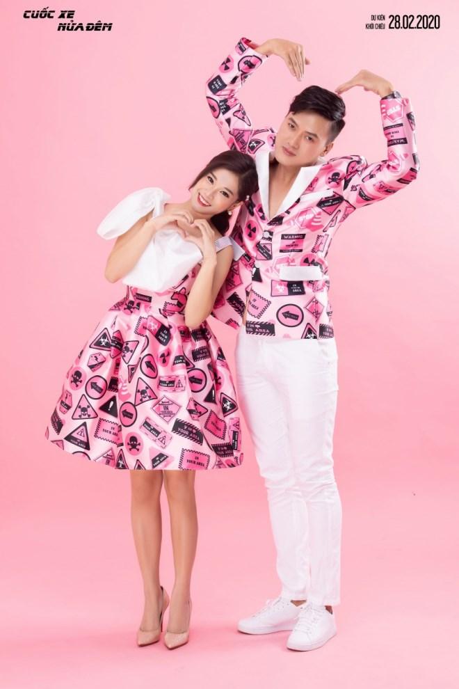 Hoàng Yến Chibi - Quách Ngọc Tuyên diện đồ đôi, trẻ trung đón Valentine - Ảnh 5