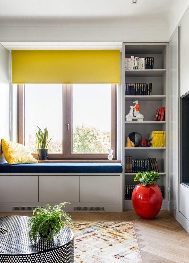 Ngôi nhà trang trí nội thất màu xanh và vàng lạ mắt - Ảnh 2