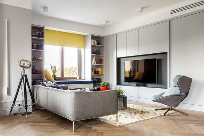 Ngôi nhà trang trí nội thất màu xanh và vàng lạ mắt - Ảnh 3
