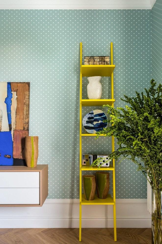 Ngôi nhà trang trí nội thất màu xanh và vàng lạ mắt - Ảnh 10