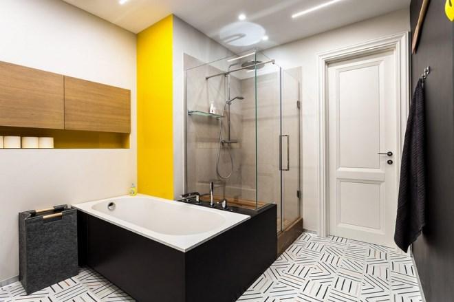 Ngôi nhà trang trí nội thất màu xanh và vàng lạ mắt - Ảnh 12