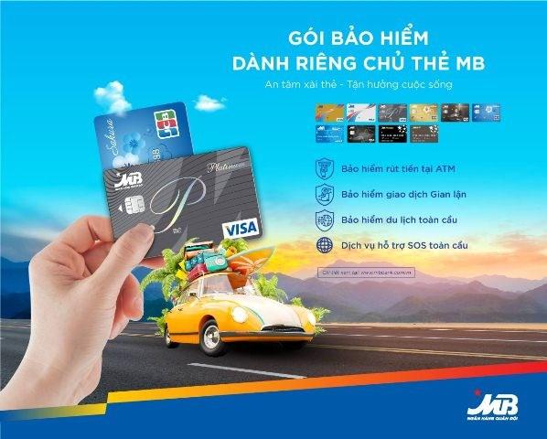 Chủ thẻ MB được bảo hiểm khi gặp rủi ro trong quá trình giao dịch thẻ - Ảnh 1