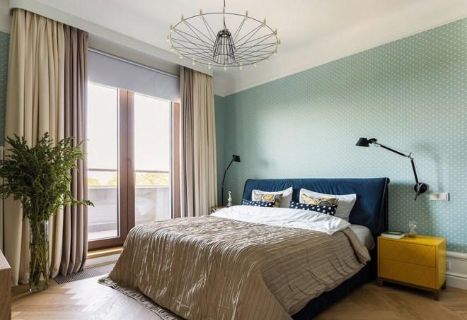 Ngôi nhà trang trí nội thất màu xanh và vàng lạ mắt - Ảnh 9