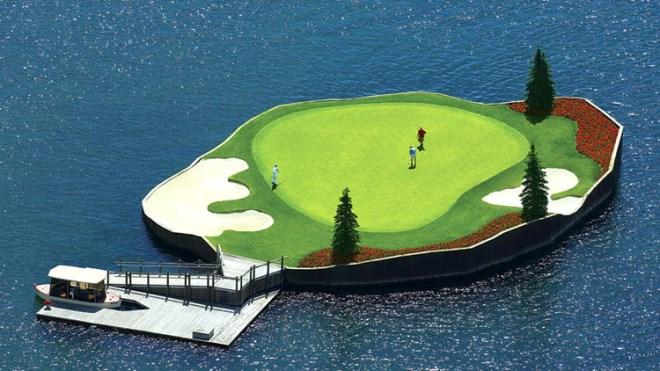 Trải nghiệm chơi golf trên sân trôi vô định giữa hồ độc nhất nước Mỹ - Ảnh 5