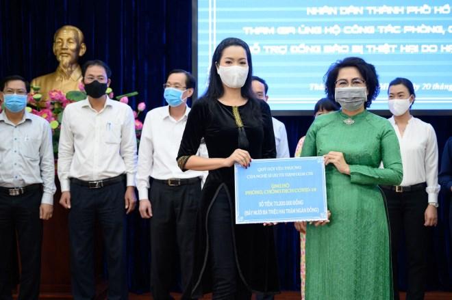 Trịnh Kim Chi và nhiều nghệ sĩ quyên góp chống dịch Covid-19 - Ảnh 2