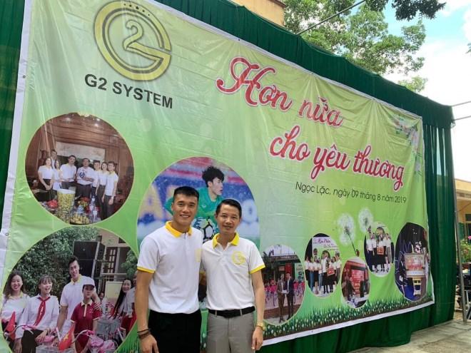 Doanh nhân Phạm Hữu Tuấn cùng thủ môn Bùi Tiến Dũng chung tay thiện nguyện tại ngôi trường mà Dũng từng học - Ảnh 2